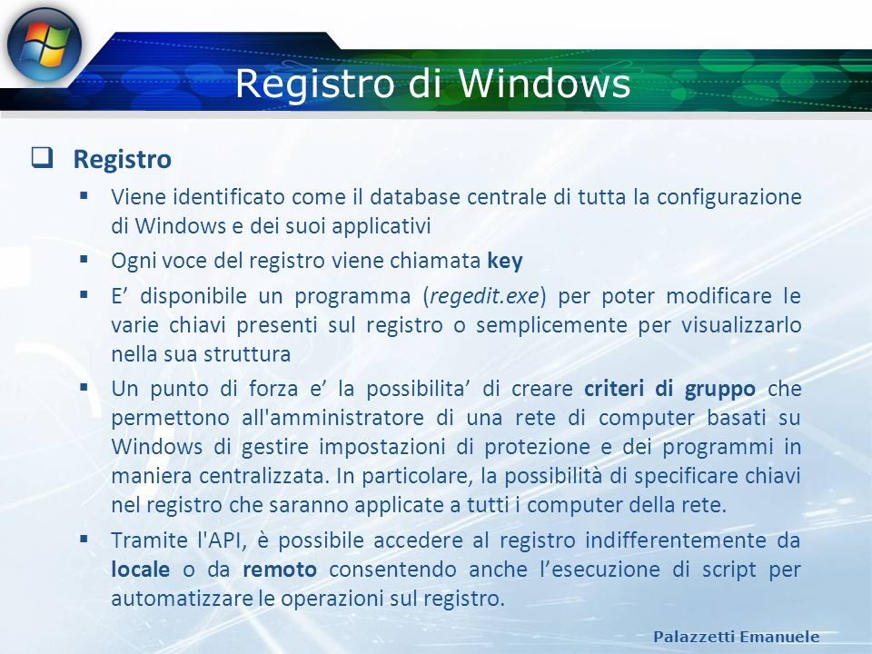 Registro di Windows Registro