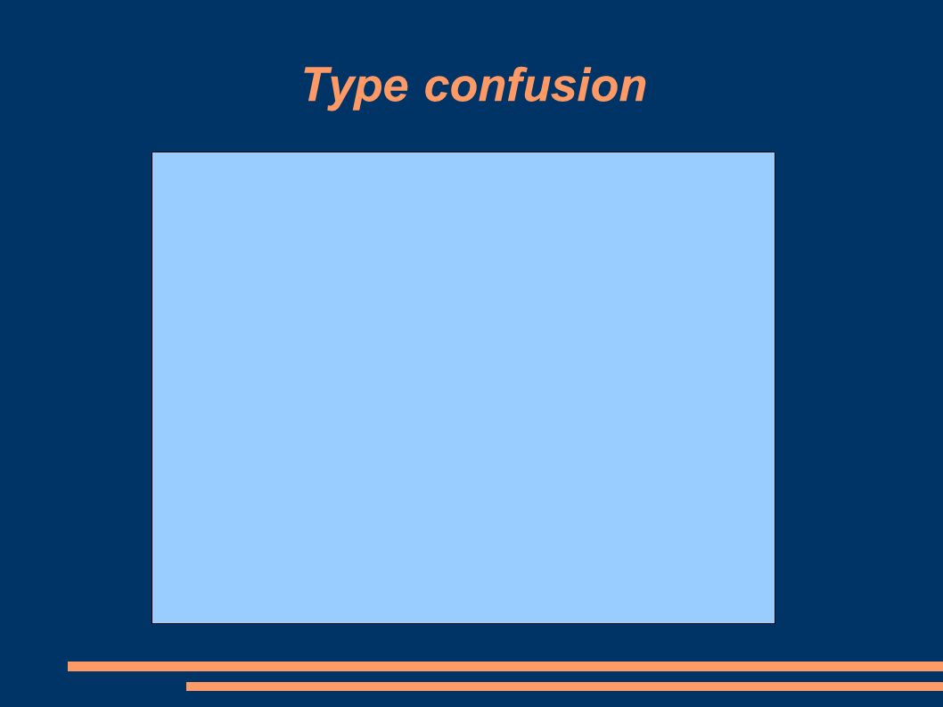 Type confusion