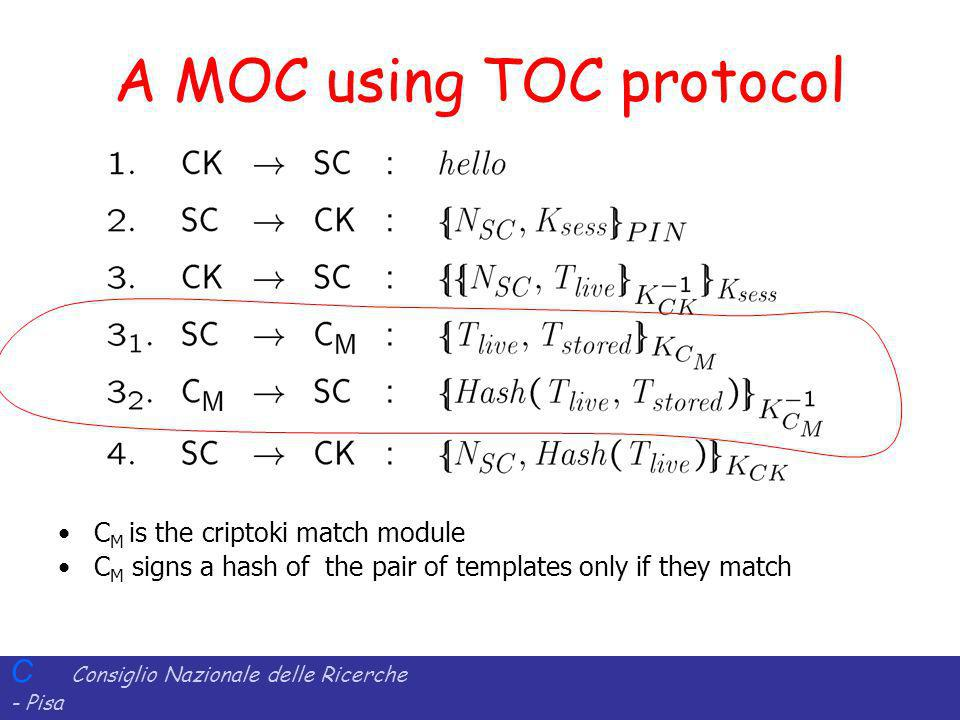 A MOC using TOC protocol