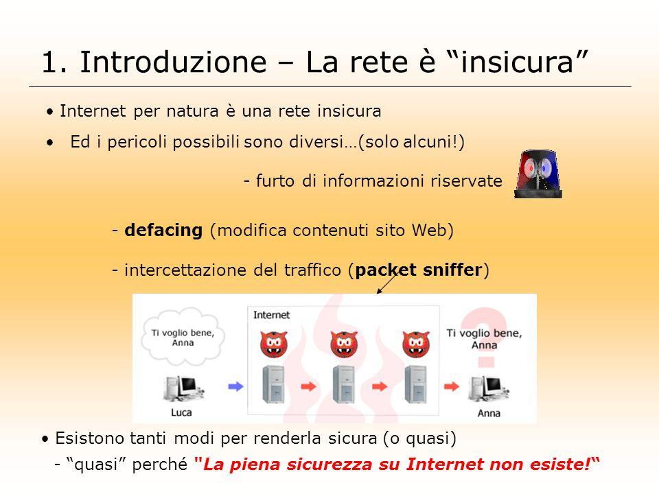 1. Introduzione – La rete è insicura