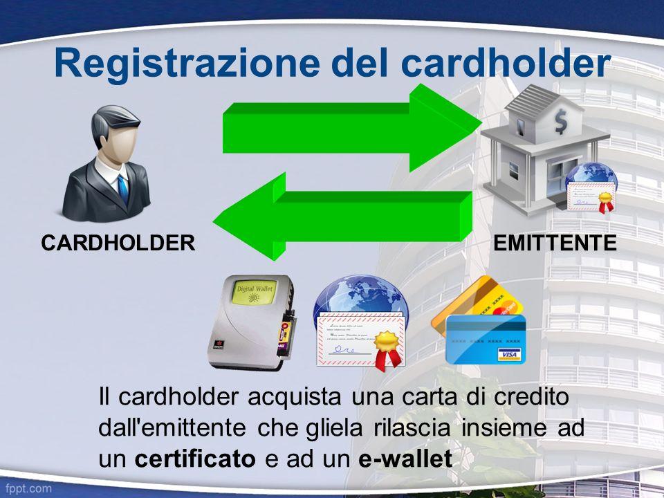 Registrazione del cardholder