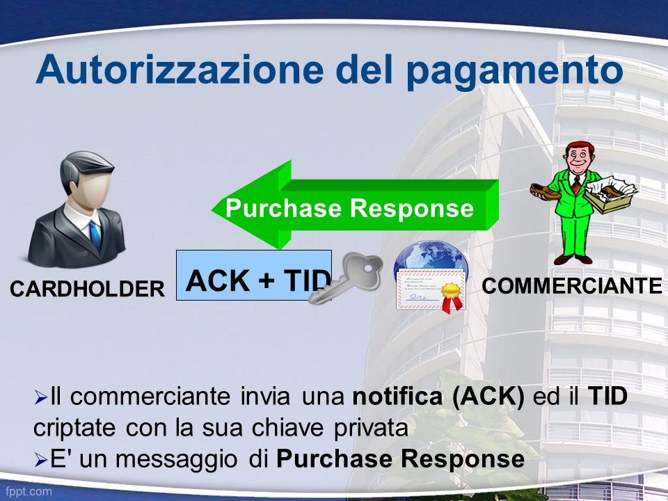 Autorizzazione del pagamento