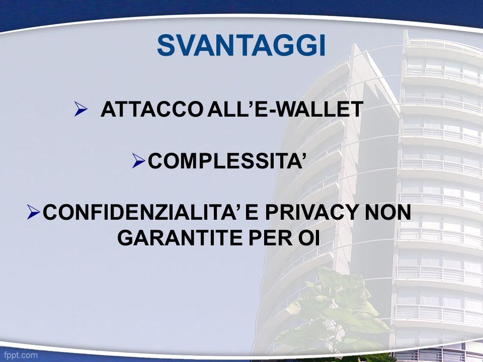 CONFIDENZIALITA' E PRIVACY NON