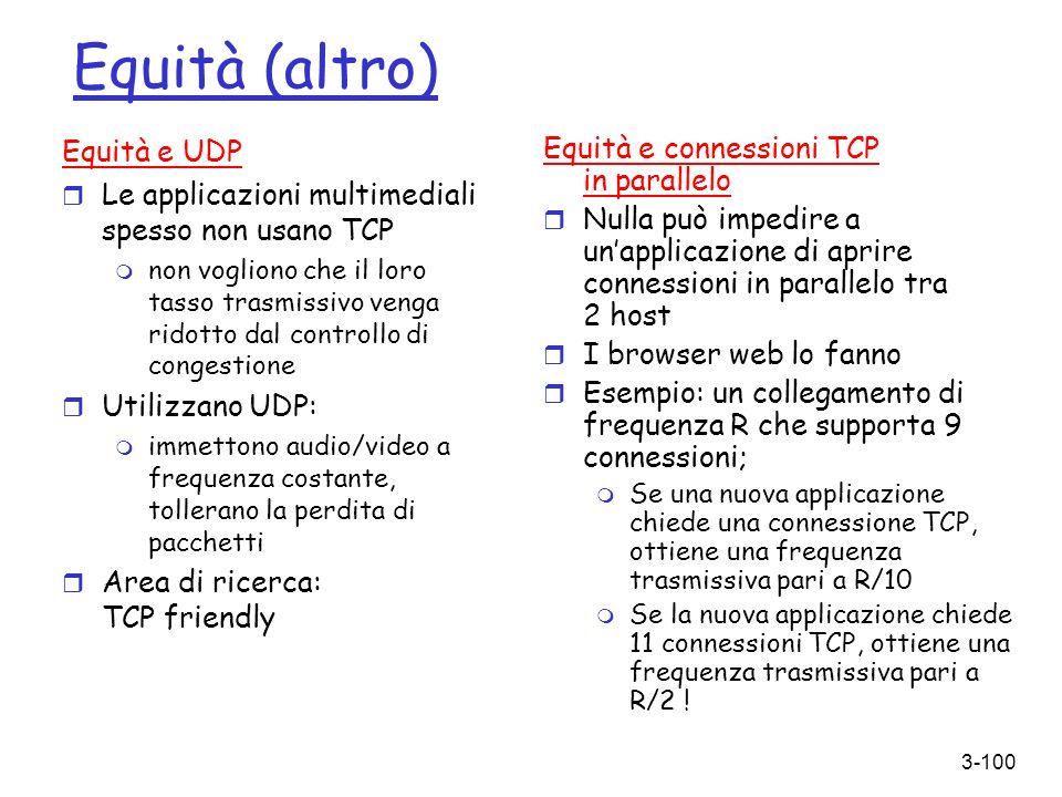 Equità (altro) Equità e UDP