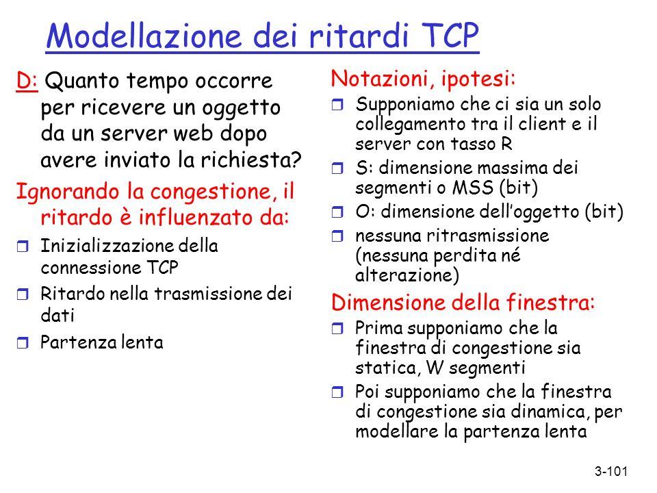 Modellazione dei ritardi TCP
