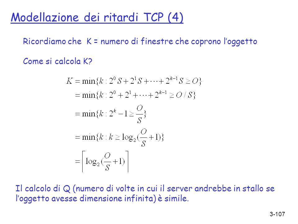 Modellazione dei ritardi TCP (4)