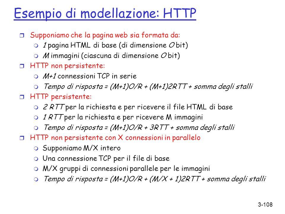 Esempio di modellazione: HTTP