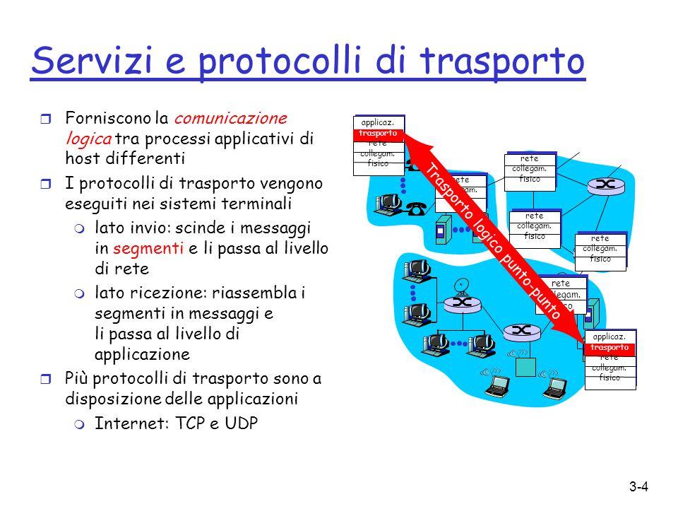 Servizi e protocolli di trasporto
