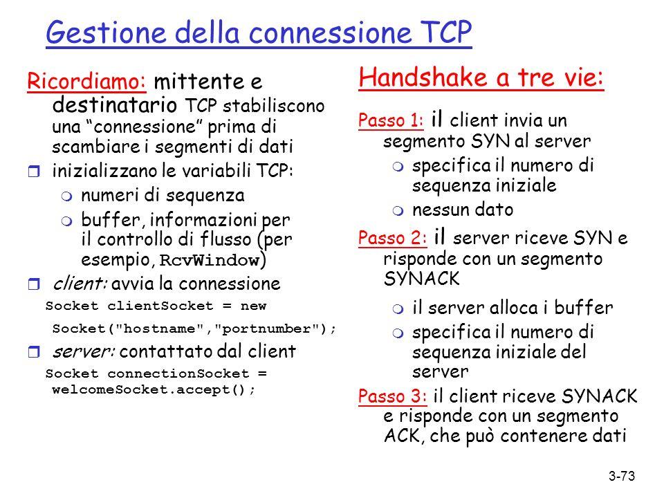 Gestione della connessione TCP