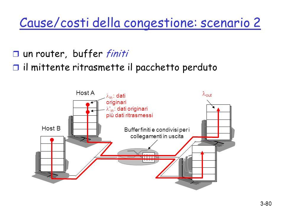 Cause/costi della congestione: scenario 2