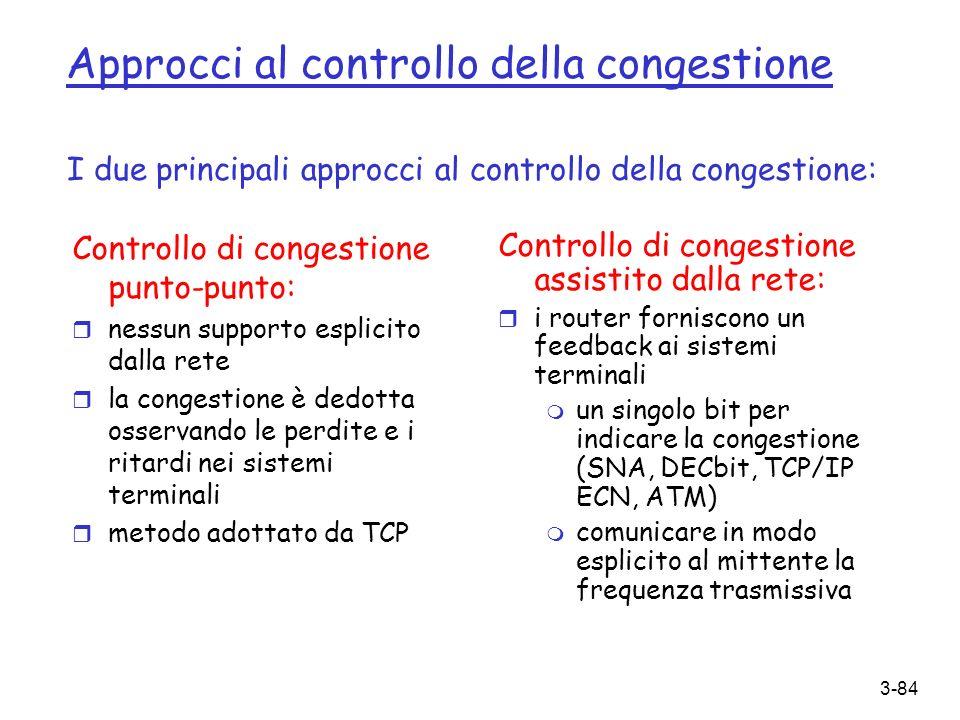 Approcci al controllo della congestione