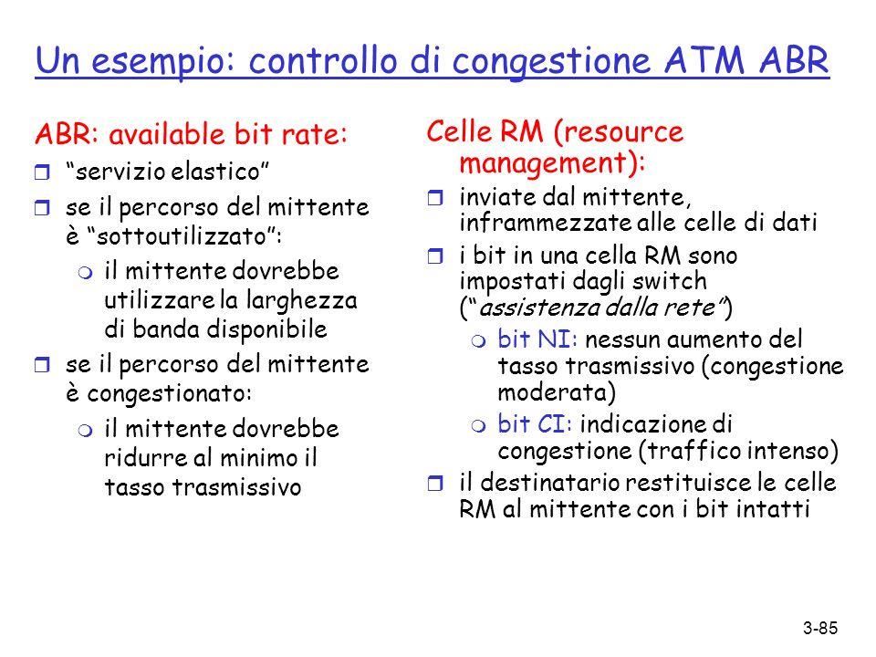Un esempio: controllo di congestione ATM ABR