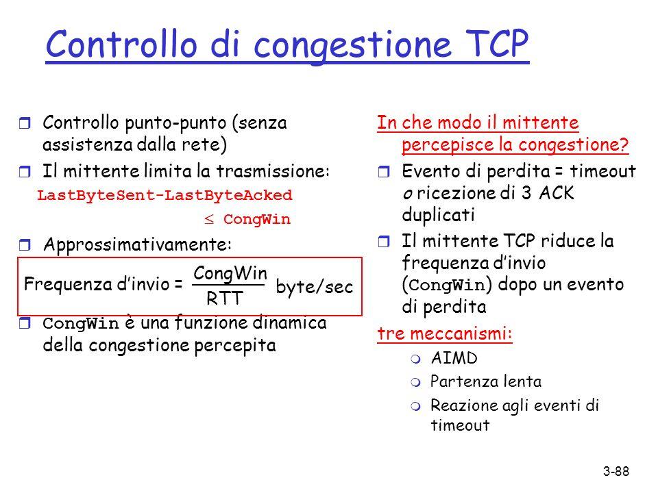 Controllo di congestione TCP