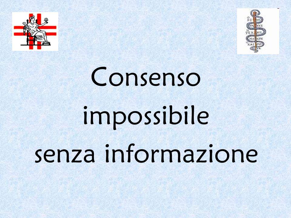 Consenso impossibile senza informazione