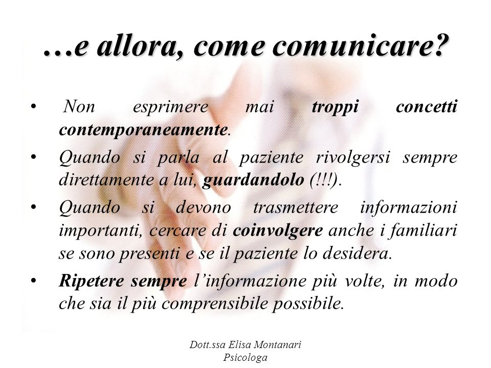 …e allora, come comunicare