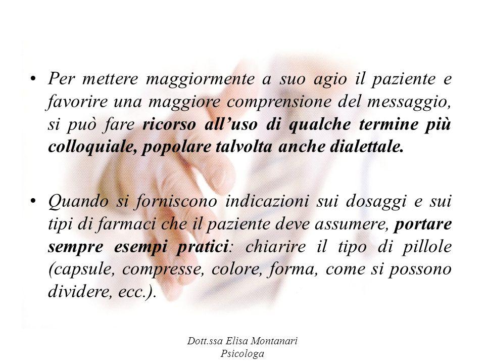 Dott.ssa Elisa Montanari Psicologa