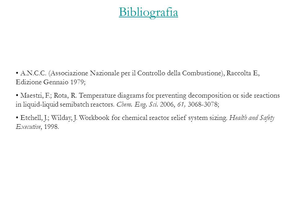 Bibliografia A.N.C.C. (Associazione Nazionale per il Controllo della Combustione), Raccolta E, Edizione Gennaio 1979;