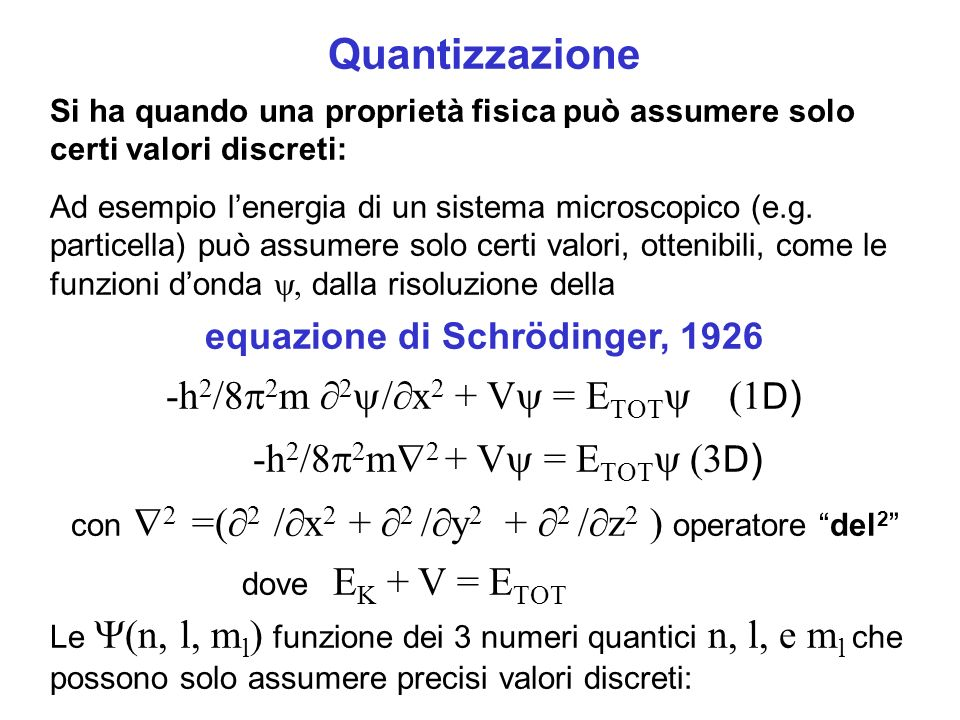 equazione di Schrödinger, 1926