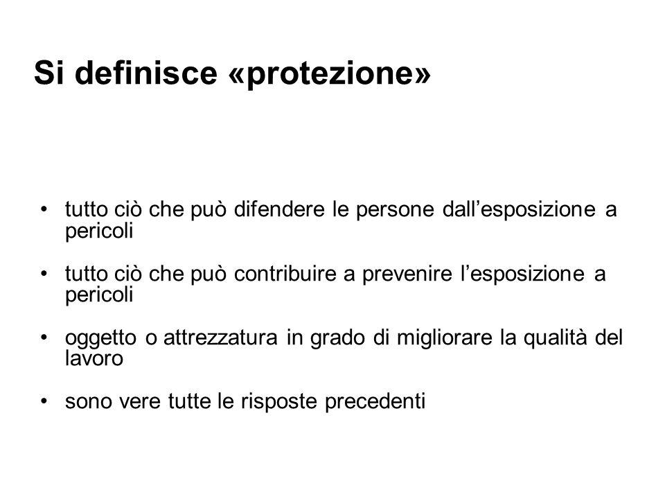 Si definisce «protezione»