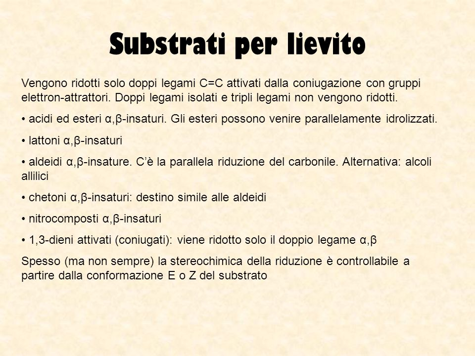 Substrati per lievito