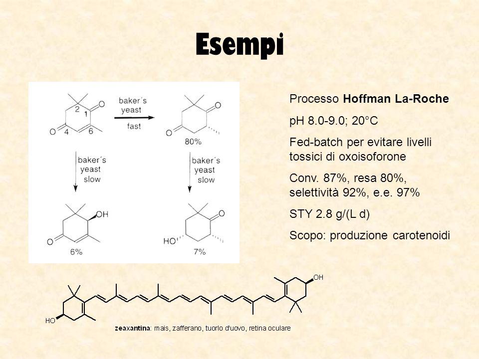 Esempi Processo Hoffman La-Roche pH 8.0-9.0; 20°C