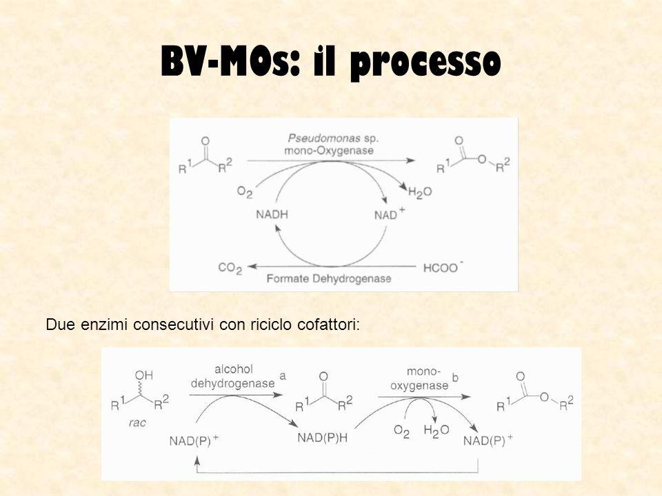 BV-MOs: il processo Due enzimi consecutivi con riciclo cofattori: