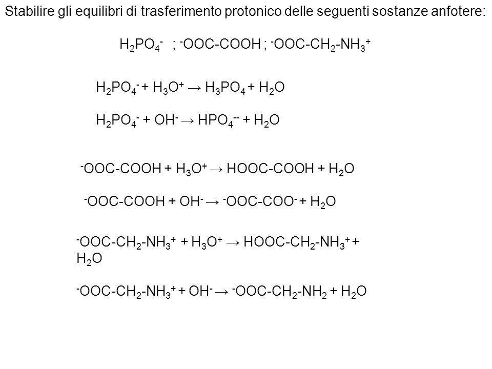 H2PO4- ; -OOC-COOH ; -OOC-CH2-NH3+