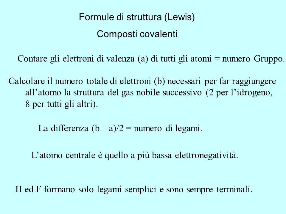 Formule di struttura (Lewis)