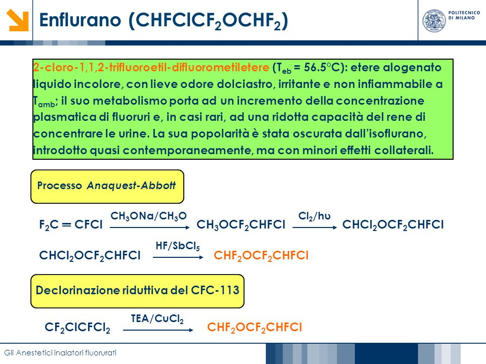 Enflurano (CHFClCF2OCHF2)
