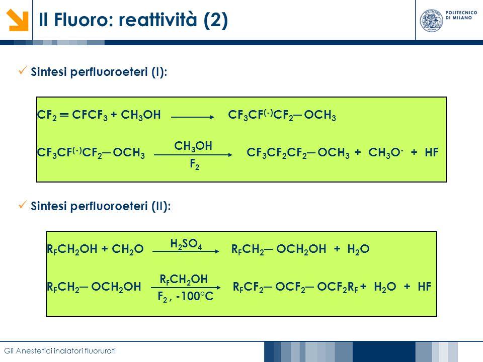 Il Fluoro: reattività (2)