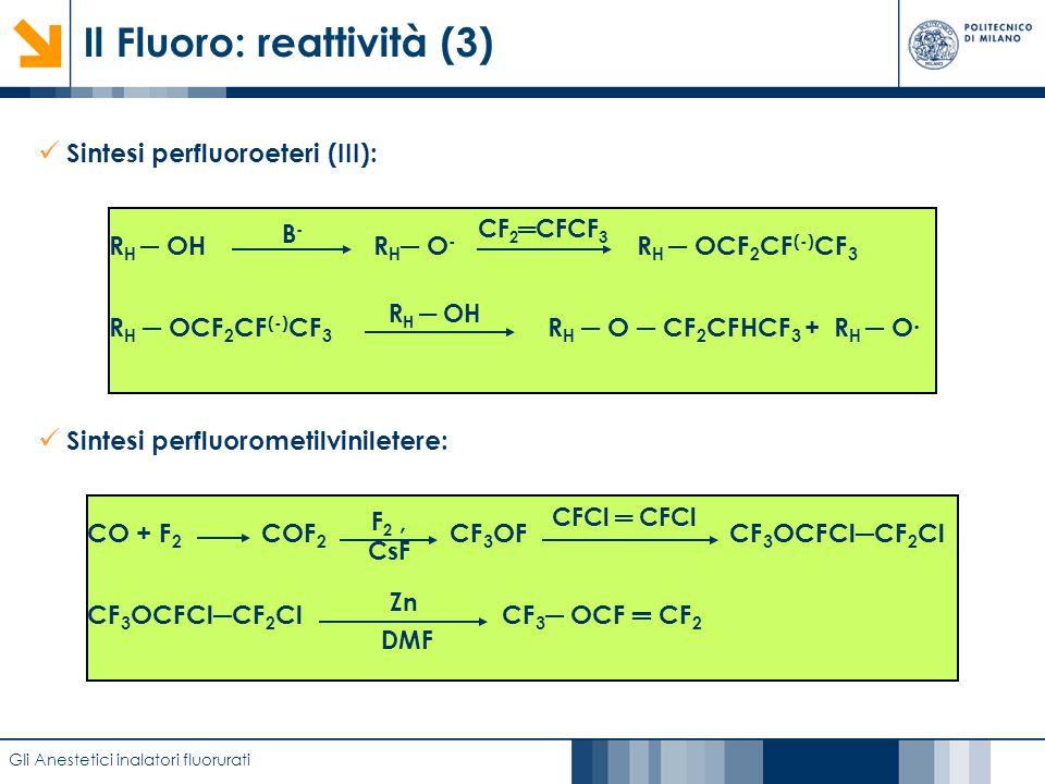 Il Fluoro: reattività (3)