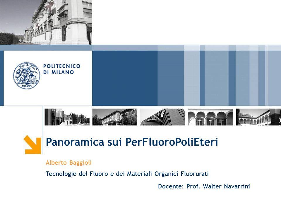 Panoramica sui PerFluoroPoliEteri