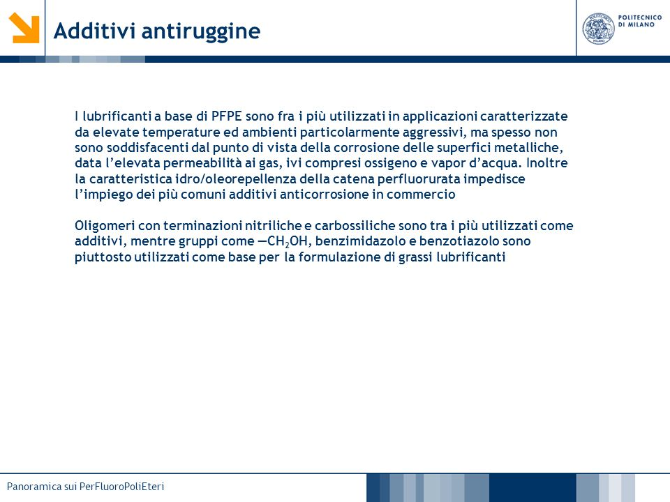 Additivi antiruggine