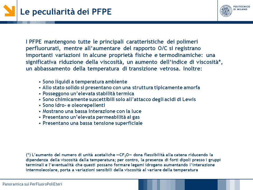 Le peculiarità dei PFPE