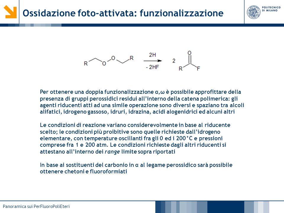 Ossidazione foto-attivata: funzionalizzazione
