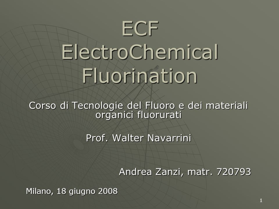 ECF ElectroChemical Fluorination