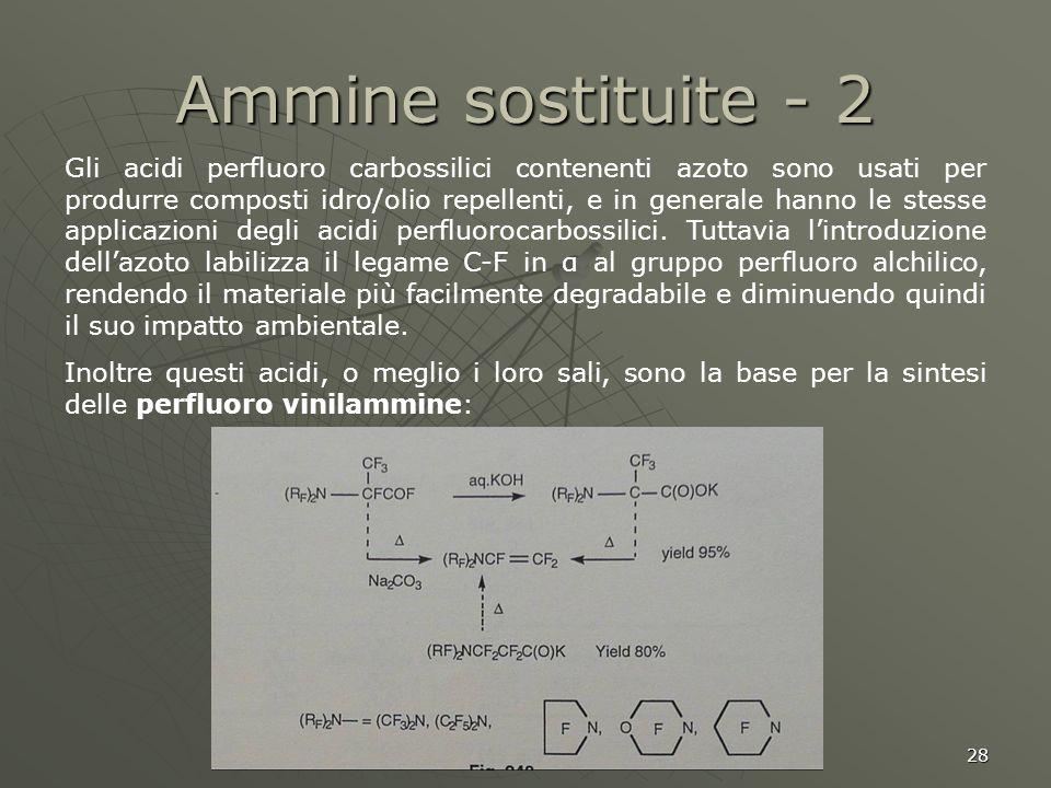 Ammine sostituite - 2