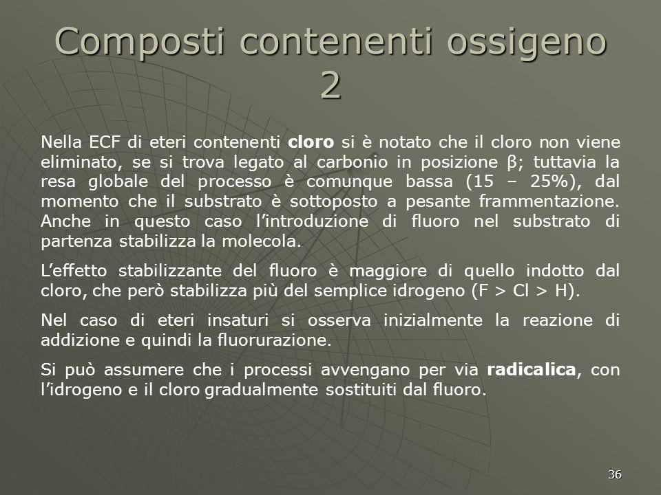 Composti contenenti ossigeno 2