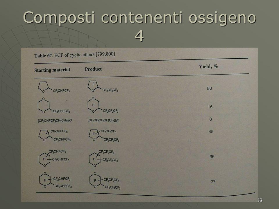 Composti contenenti ossigeno 4