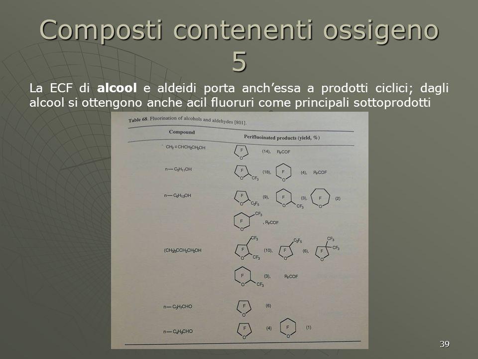 Composti contenenti ossigeno 5