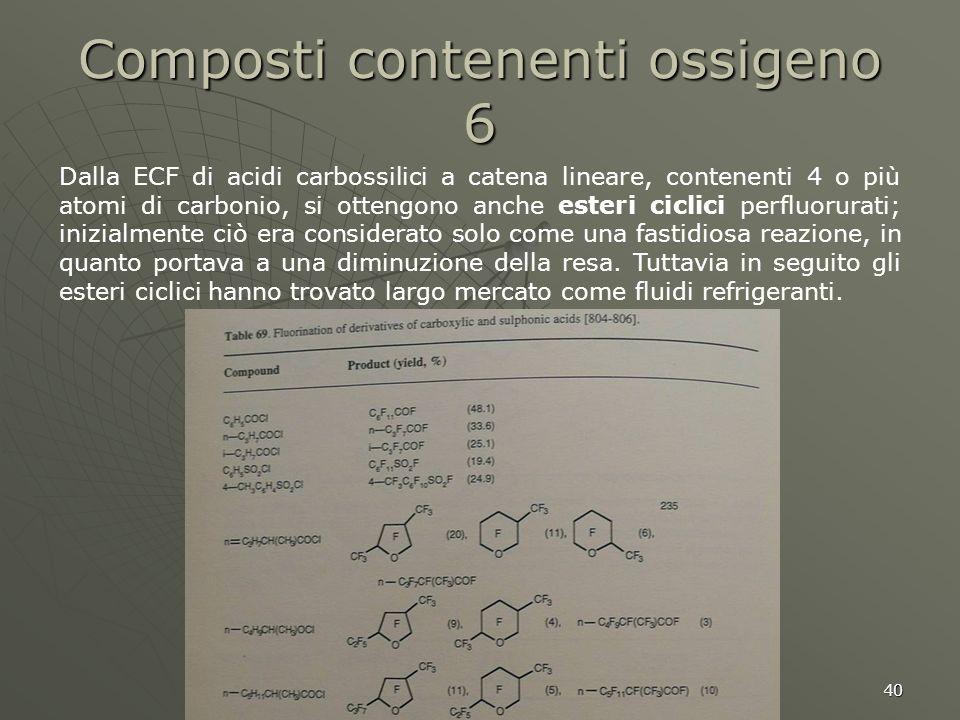 Composti contenenti ossigeno 6