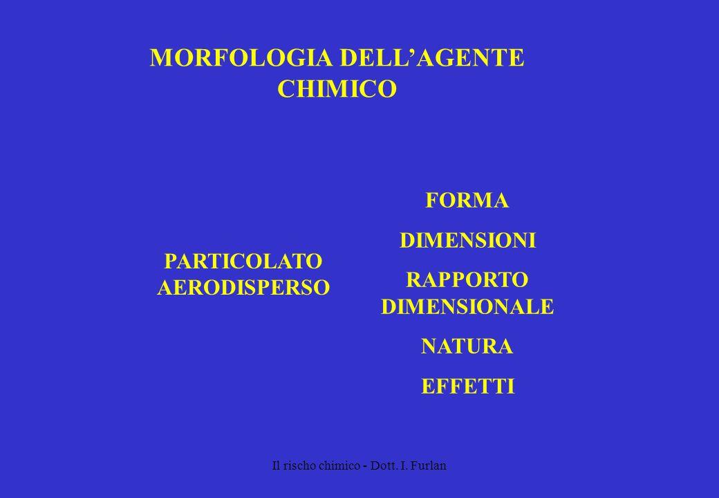 MORFOLOGIA DELL'AGENTE CHIMICO