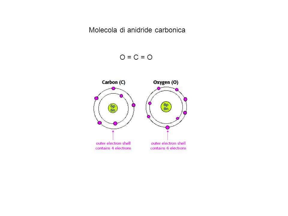 Molecola di anidride carbonica