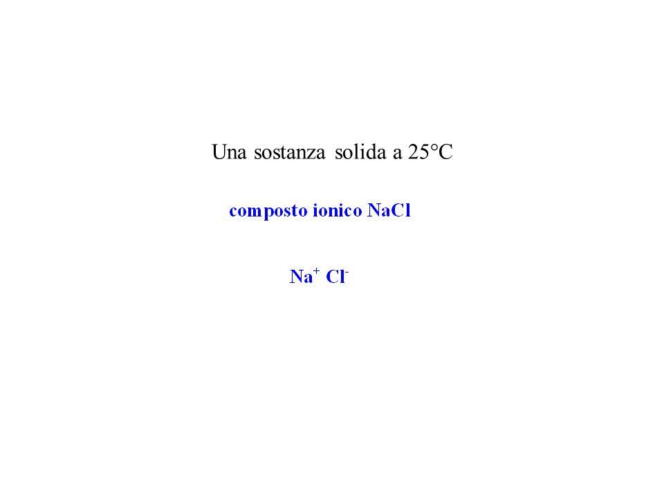 Una sostanza solida a 25°C
