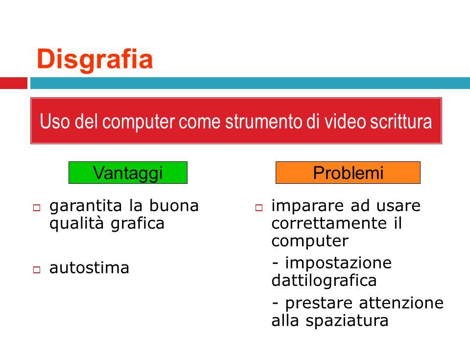 Uso del computer come strumento di video scrittura
