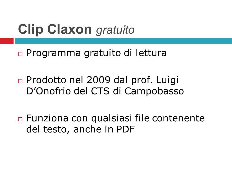 Clip Claxon gratuito Programma gratuito di lettura