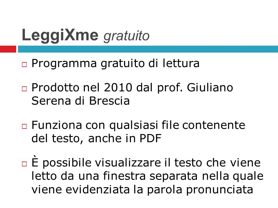LeggiXme gratuito Programma gratuito di lettura