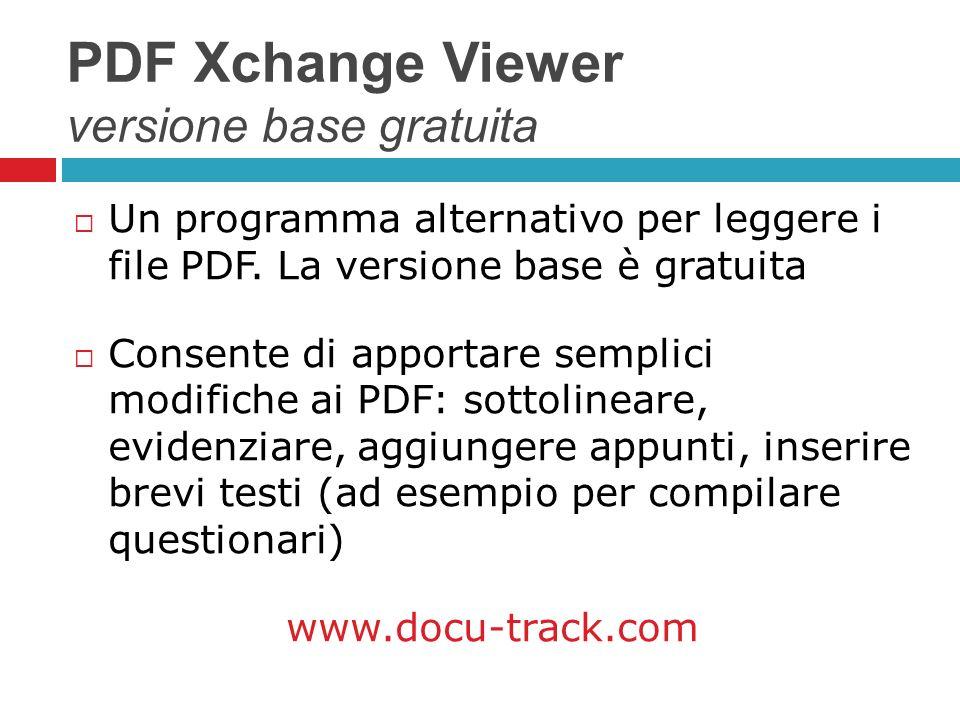 PDF Xchange Viewer versione base gratuita