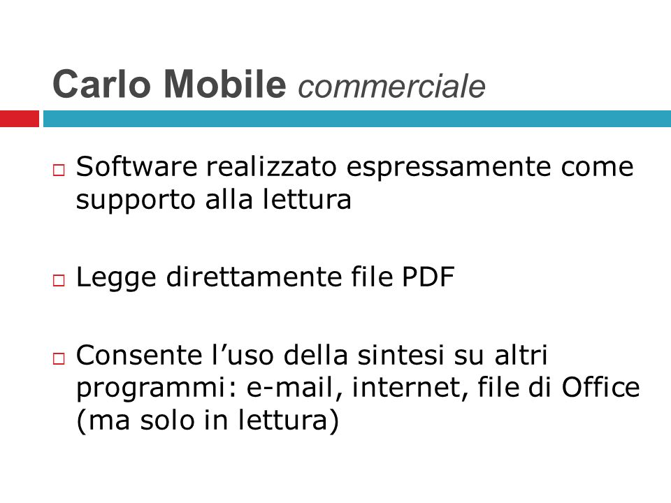 Carlo Mobile commerciale
