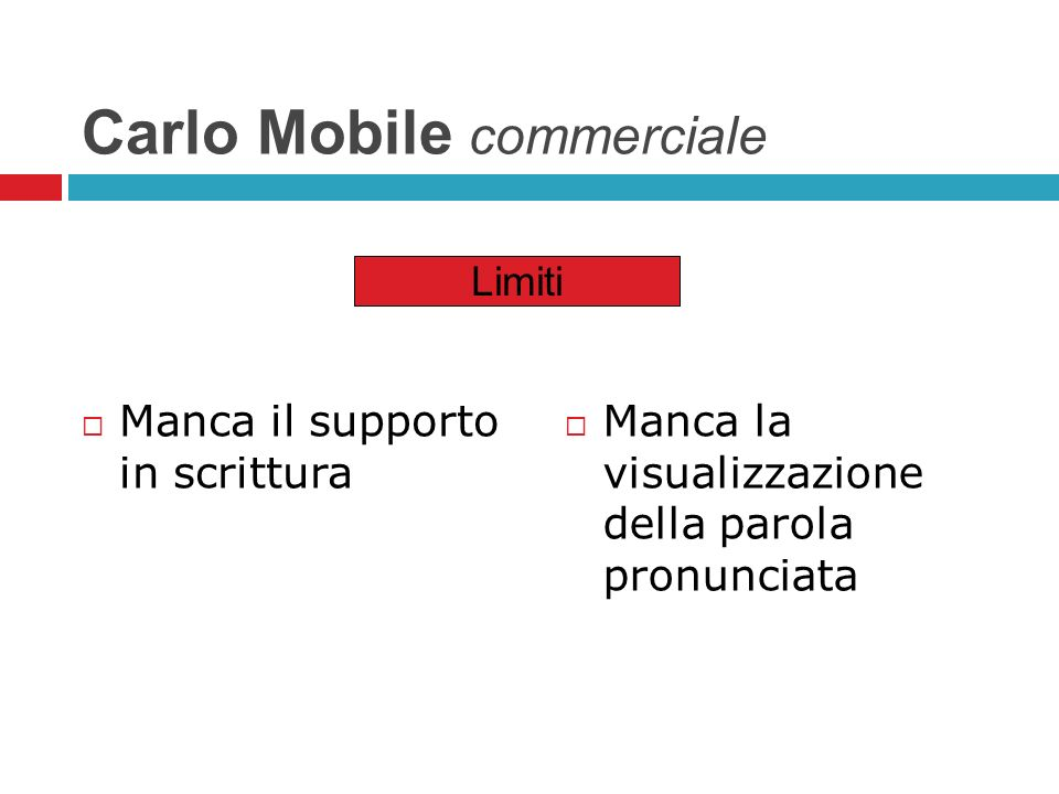Carlo Mobile commerciale